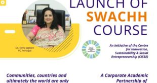 National College And Aquakraft Launch The Unique SWACHH Course, Grand Inauguration Ceremony On Thursday 16th July