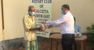 Rotary Club Of Calcutta North East Provided Relief Materials In The Form Of Ration To 225 Under Privileged Person Of Mandra Village, In Hooghly District Amid Lockdown