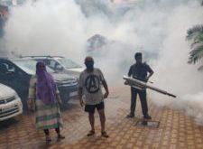 Shivsena Corporator Geeta Sanhay Singhan Carried Out Fogging And Sanitization In Ward No. 12, Borivali East