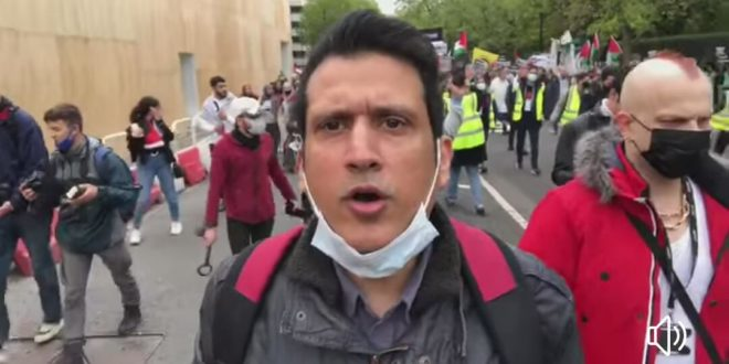 London Protesters Take to Streets on Saturday to Oppose Violence in Israel and to Show Solidarity with Palestinians in Gaza
